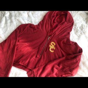 USC cropped jacket